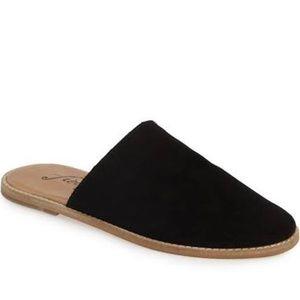 Free People Black Suede Coronada Mule Slide Sandal